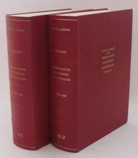 Scheen, Pieter A., - Lexicon Nederlandse beeldende kunstenaars 1750-1950. ['Rode Scheen', 2 delen compleet]