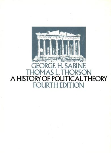 Sabine, George H., - A history of political theory. [Fourth ed., hardcover]